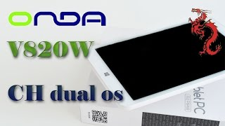 oNDA V820W CH OS распаковка. DualOS, INTEL Atom X5-Z8300