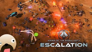 PHC VS SUBSTRATE MASSIVE SCALE RTS - Ashes of the Singularity Escalation Gameplay