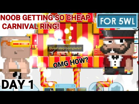 'NOOB GETTING CARNIVAL RING FOR?' (SO CHEAP) OMG!! - Growtopia
