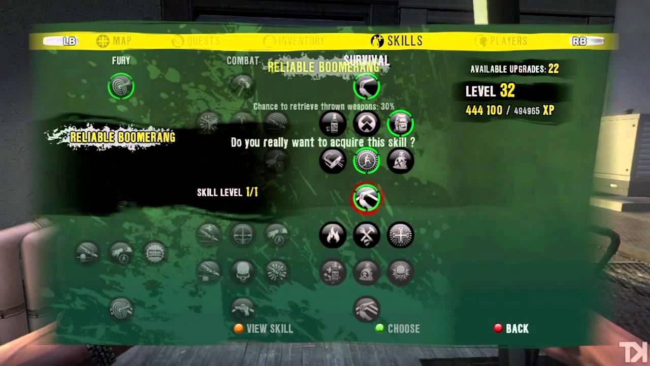 Dead Island Tree Skill
