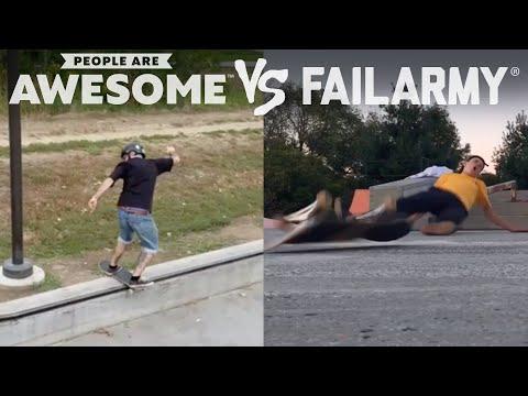 Wins Vs. Fails | People Are Awesome Vs. FailArmy