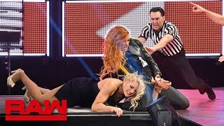 Lacey Evans incurs the wrath of Becky Lynch Raw April 8 2019