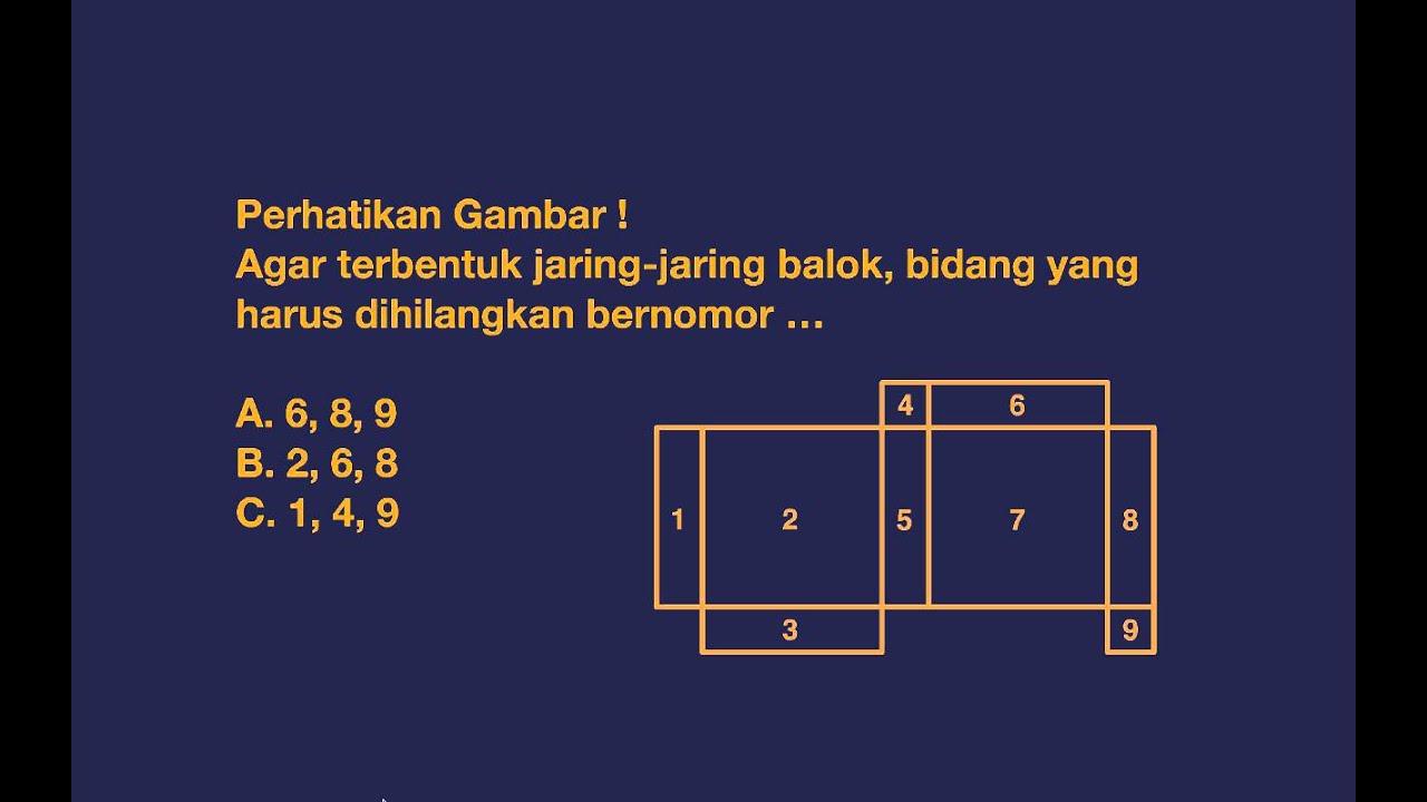Soal Matematika Jaring Jaring Kubus Dan Balok Kelas 5