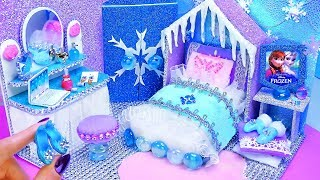 DIY Miniature Frozen Bedroom and Shoes for Disney Elsa