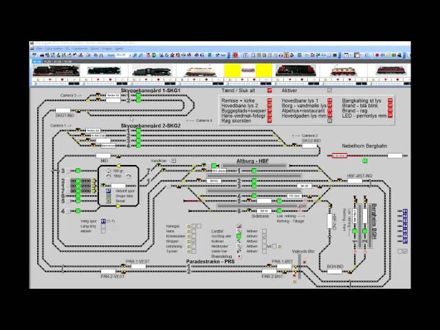 Digitalt styret lys i modelbanevogne