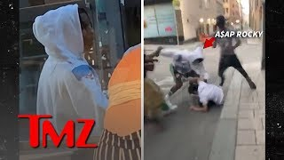 A$AP Rocky and Crew Allegedly Attack Guy on Street in Stockholm | TMZ