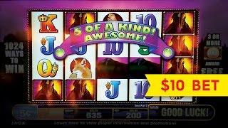 Mustang Slot - $10 Max Bet - GREAT BIG WIN Session!