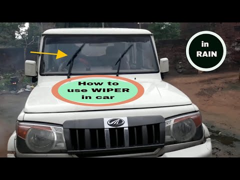 How to use wiper in car || Bolero || in hindi