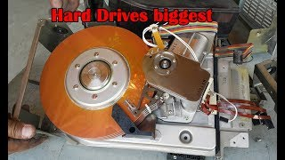 Hard Disk Drives biggest FUJITSU M2312K capacity of 80MB. Harddisk big. 9