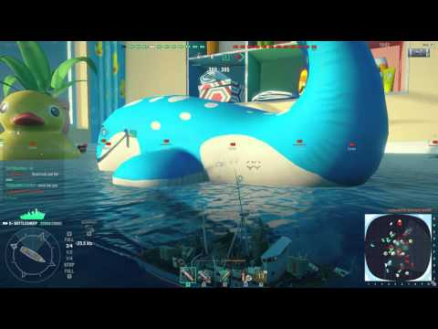World of Warships - Jacuzzi Mode - American Bottlesheep (April Fools)