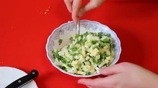 Рецепт пирога с зеленым луком и яйцом