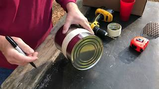 Build A Hobo Stove From A 1 Gallon Paint Can, Exhaustive Tutorial