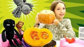 Готовим тыквенные печеньки с Монстер Хай - Видео для девочек