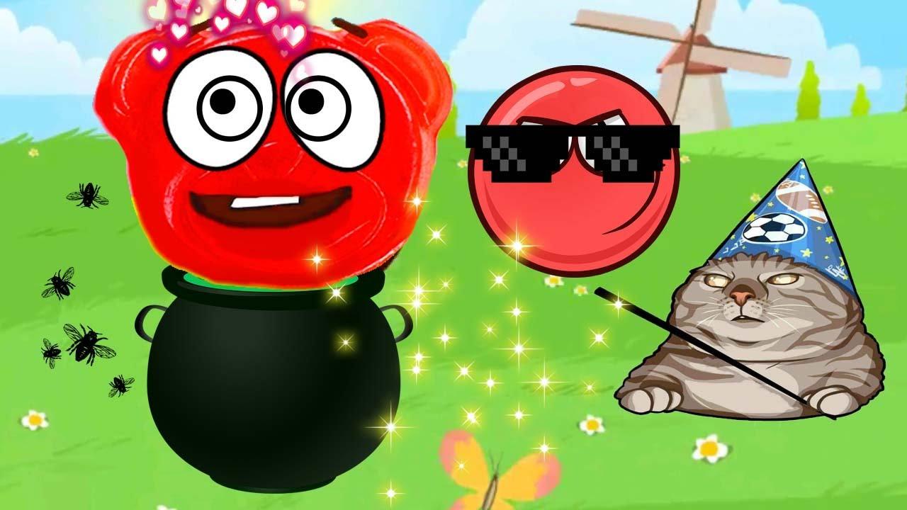 САМЫЙ СИЛЬНЫЙ ЗЛОДЕЙ! ЖЕЛЕЙНЫЙ МЕДВЕДЬ ВАЛЕРКА в мире КРАСНОГО ШАРИКА Red Ball 4 игровой мультик