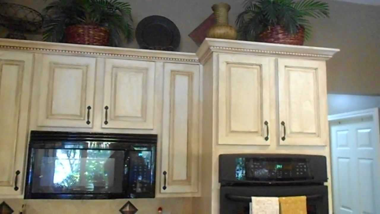 Exceptional Paint Finishes For Kitchen Cabinets Part - 12: Crackle Finish On Kitchen Cabinets, Also China Crackle, New Backsplash, New  Granite - YouTube