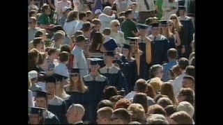 The emotional 1999 Columbine High School graduation ceremony