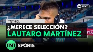 Lautaro Martínez, autor de 3 goles ante Huracán