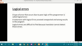 Types of Errors In C++ Programing in urdu
