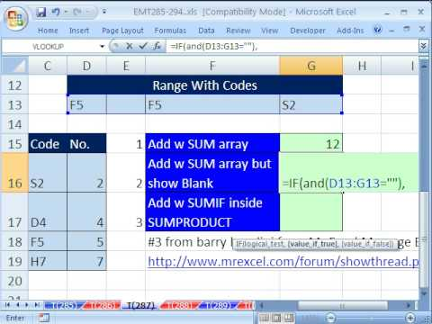 Excel Magic Trick 287: Lookup Adding - Array & Non-Array Formula