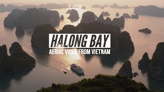 Halong Bay Vietnam from Above (4K Aerial Video)