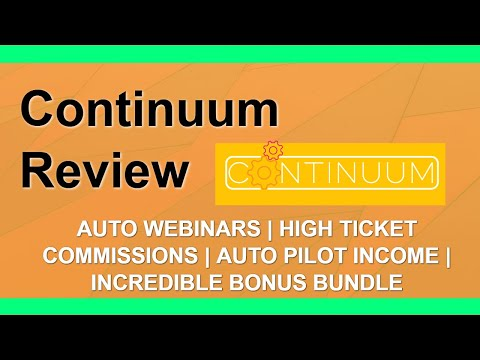Continuum Review | 🖥️ EverWebiner Alternative 🖥️ | DFY High Ticket Commissions thumbnail