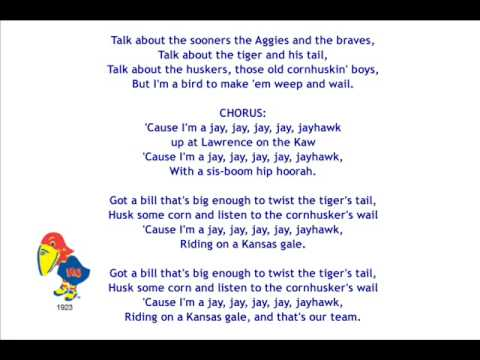 I'm a Jayhawk (w/ Lyrics and Voices)