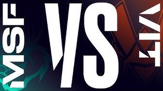 MSF vs. VIT - Week 9 Day 1   LEC Spring Split   Misfits vs. Vitality (2020)