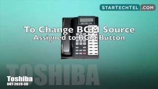 How To Change The Background Music On The Toshiba DKT-2020-SD Phone