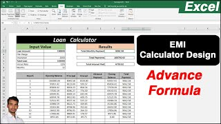 EMI loan calculator excel reducing balance sheet design with statement in Ms Excel screenshot 1