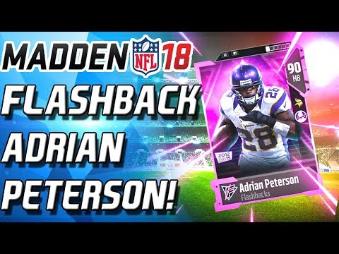 NEW FLASHBACKS! ADRIAN PETERSON AND BRANDIN COOKS! - Madden 18 Ultimate Team - MUT 18