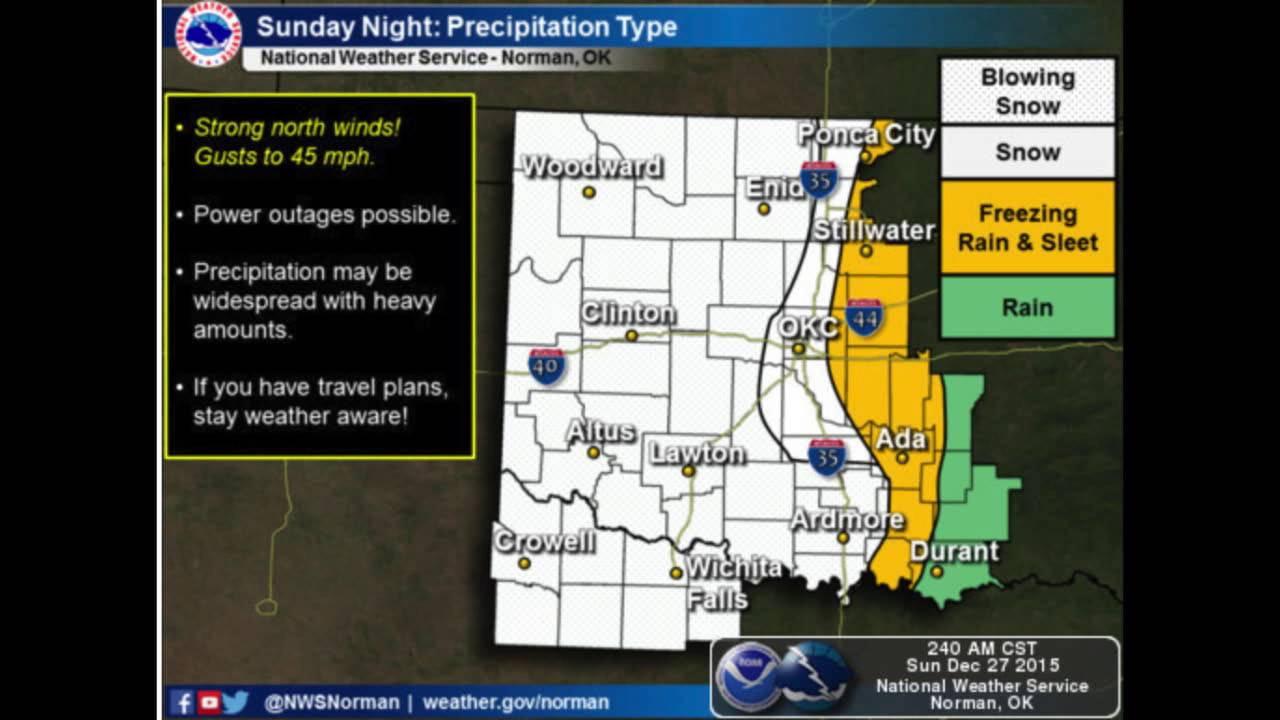 Oklahoma Weather Forecast Sunday Dec   YouTube - Map of united states weather forecast