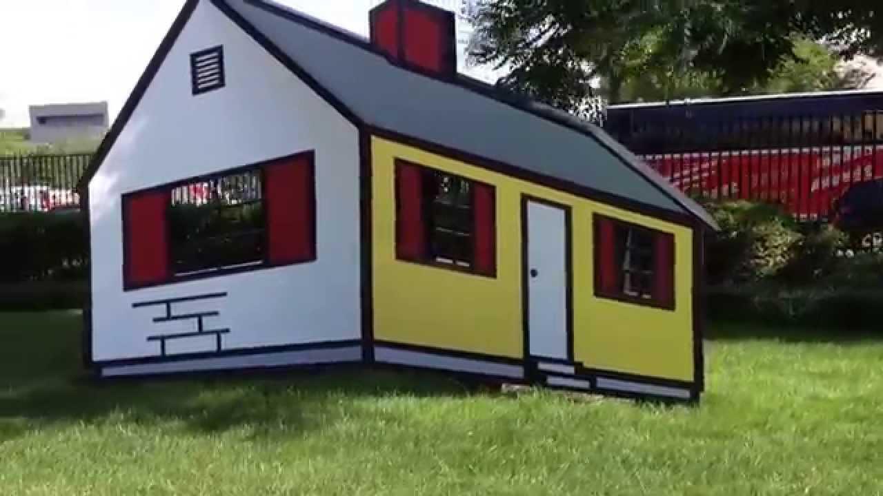 Trippy Roy Lichtenstein 3D house illusion - YouTube