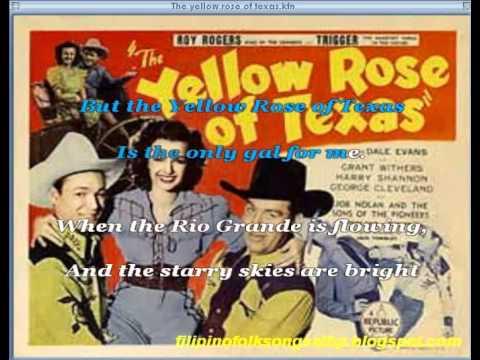 The Yellow Rose of Texas (Karaoke) - American Traditional Folk Song