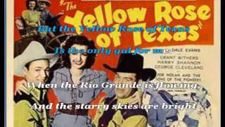 The Yellow Rose of Texas (Karaoke) - American Traditional Folk Song