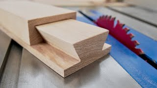 How To Make A Sliding Dovetail Joint on the Table Saw | Woodworking