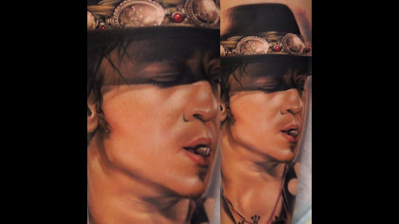 Stevie ray vaughan tattoo youtube for Stevie ray vaughan tattoo