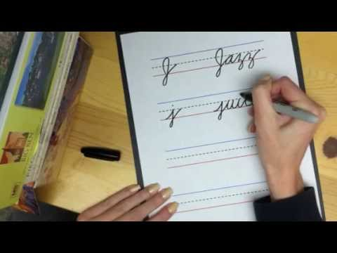 learn cursive letter j youtube