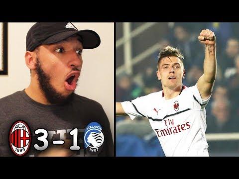 MILAN 3-1 ATALANTA REACTION | 2018/19 Serie A Highlights | Piatek IS UNSTOPPABLE!!