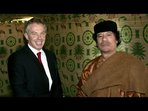 Tony Blair defends his relationship with Colonel Gaddafi