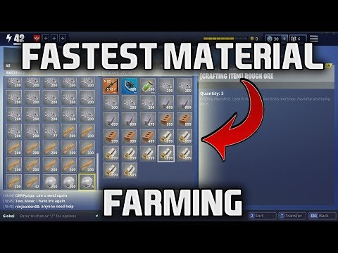 FORTNITE - FASTEST MATERIAL FARMING POSSIBLE - Fast Resources + Materials in save the world