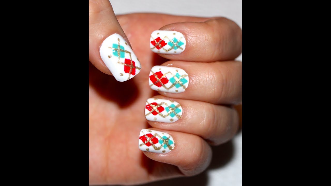 Easy Nail Art For Winter/ Christmas No Tools Tooth Pick
