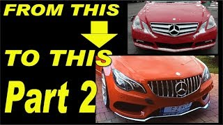 Gambar cover Mercedes E-class W207 facelift project, AMG bumper,Headlights,carbon fiber install part 2