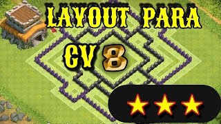 Clash Of Clans: Layout de Farm Para Centro de Vila 8 (CV8)