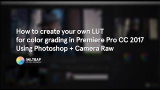 كيفية إنشاء الخاصة بك طرفية في فوتوشوب + كاميرا الخام درجات اللون الفيديو في Premiere Pro CC 2017
