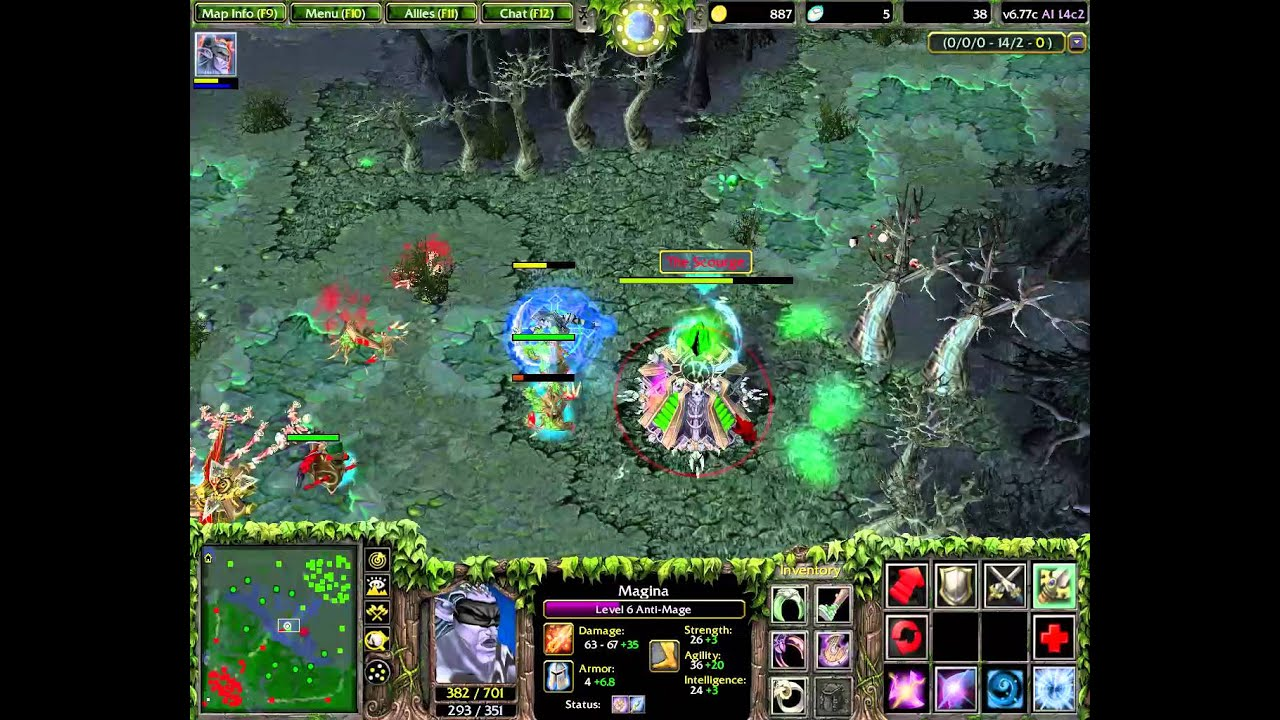 gameplay dota 1v1 only middle magina vs terrorblade youtube