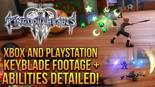 Kingdom Hearts 3 - Playstation And Xbox Keyblade Gameplay Plus Abilities Detailed!