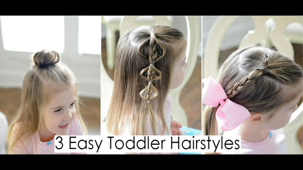 3 quick and easy toddler hairstyles for fine hair - youtube