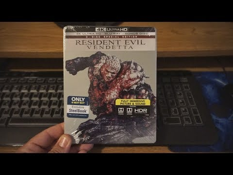 Resident Evil Vendetta Steelbook 4K Blu-Ray Unboxing & Review !!!