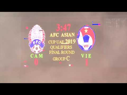 Cambodia VS Vietnam 1 2 AFC ASIAN CUP Full Times