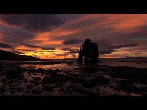 Hvítserkur Iceland sunset & sunrise time lapse